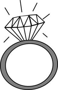 Ring Clip Art. Engagement Ring Vector