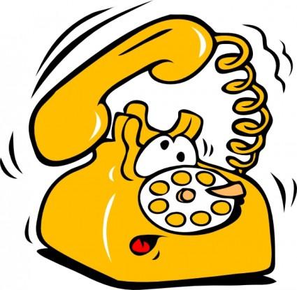Ringing phone clip art free .