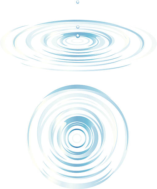 Top And Side View Of Ripples Vector Art -Top and Side View of Ripples vector art illustration-15
