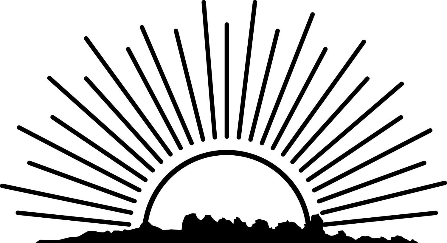 Rising Sun Clipart Black And ..-Rising Sun Clipart Black And ..-4