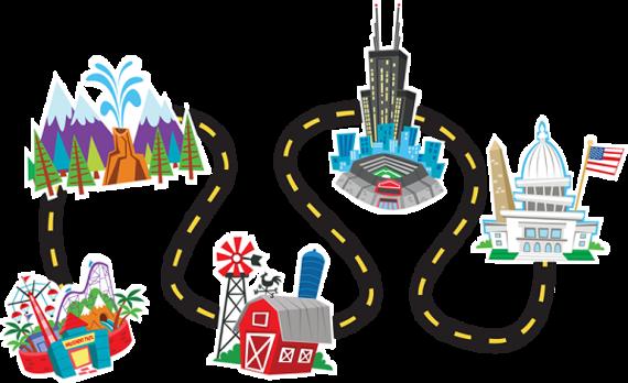 29 road trip clip art clipartlook