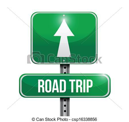 ... road trip road sign illustration design over white