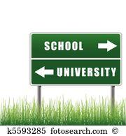 Roadsign School University.-Roadsign school university.-2
