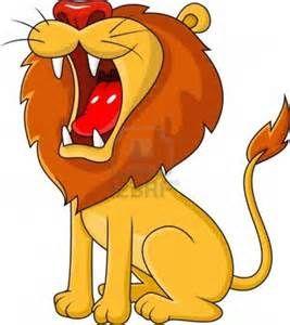 roaring lion clipart