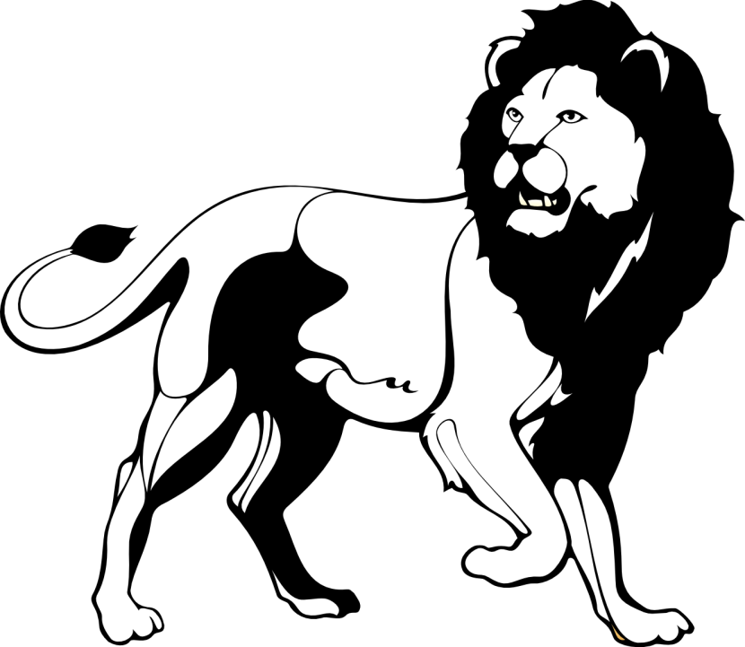 Roaring Lion Clipart Black And ..
