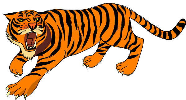 Roaring Tiger Clip Art At Clker Com Vect-Roaring Tiger Clip Art At Clker Com Vector Clip Art Online Royalty-5