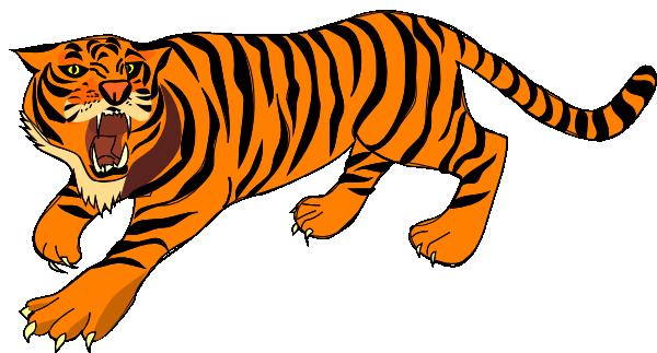Roaring Tiger Clip Art