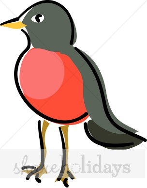 Red Breasted Robin Clipart
