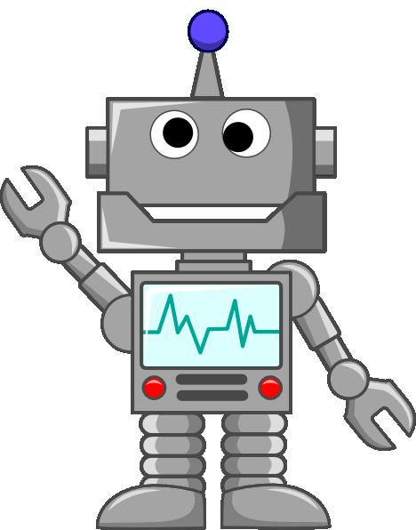Robot Waving Clip Art