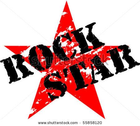 Rock Guitar Star Clipart-rock guitar star clipart-3