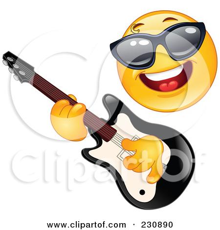 Rock Guitar Star Clipart-rock guitar star clipart-4