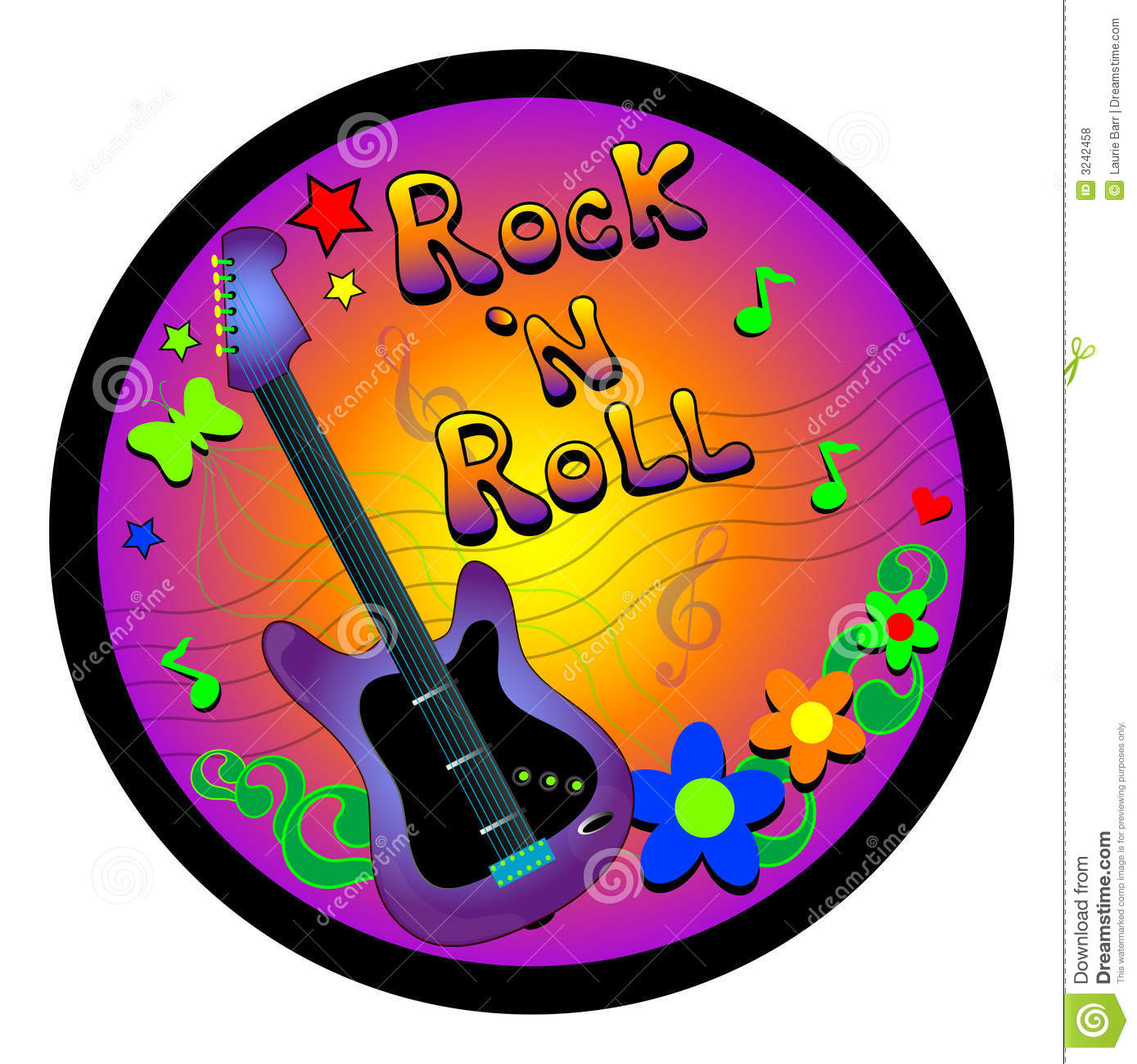 Rock And Roll Graphic Royalty Free Stock-Rock And Roll Graphic Royalty Free Stock Photos Image 3242458-6