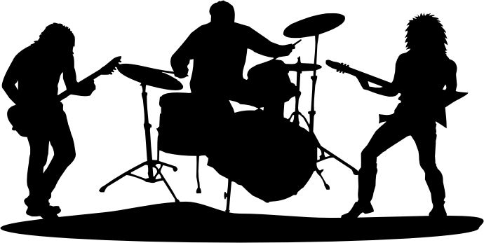 Music band. Rock clipart clipartlook