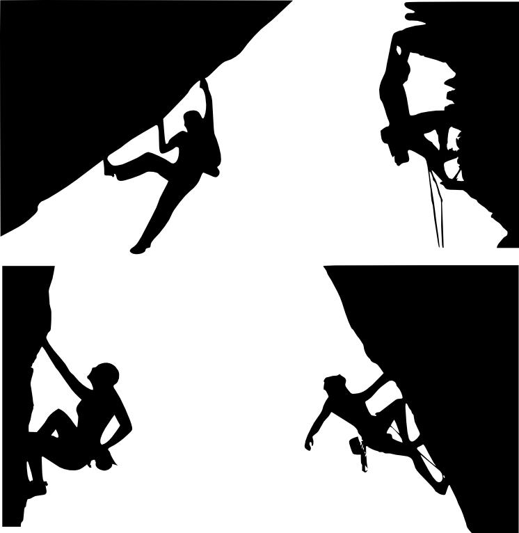 rock climber clipart image .