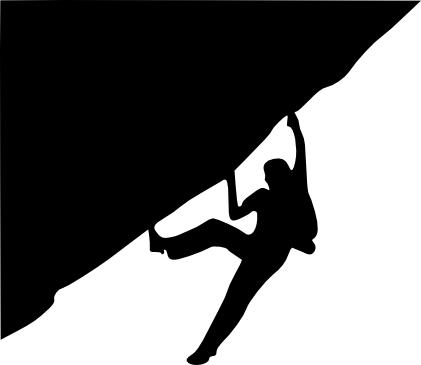 Rock Climbing Black N White Clipart - Clipart Kid
