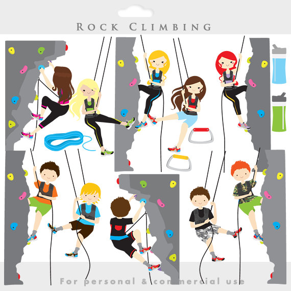 Rock climbing clipart - rock climbing cl-Rock climbing clipart - rock climbing clip art, sport, health, fitness, kids, mountain climbing, digital, for personal commercial use | Kid, ...-15