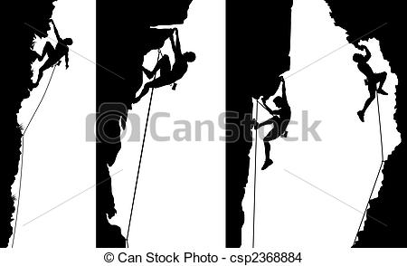 Rock climbing Clipartby darrenwh30/2,588; Climber side panels - Set of editable vector side panel.