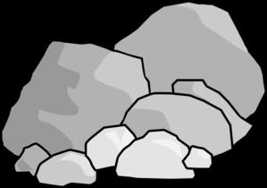Rock clip art at vector clip art free 2 image