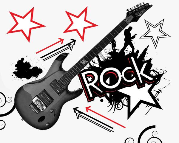 Rock Star Clip Art Rock Star Party Print-Rock Star Clip Art Rock Star Party Printable Rock Star Guitar Instant-5