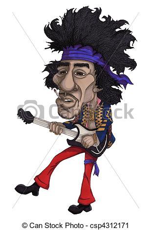 ... Rock Star - Hand Drawn Illustration -... Rock Star - Hand drawn illustration of a rock star Rock Star Clipartby ...-14
