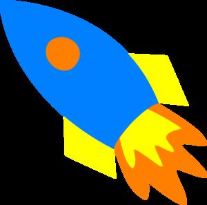 Rocketship blue rocket ship clip art at vector clip art