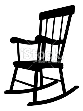rocking chair clipart black and white