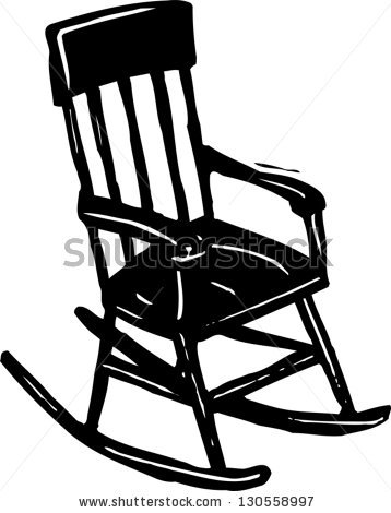 rocking chair clipart black and white-rocking chair clipart black and white-17