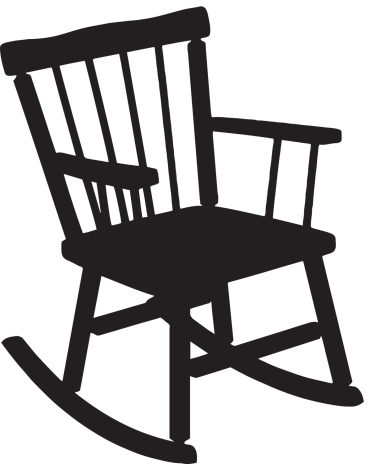 Rocking Chair Silhouette .