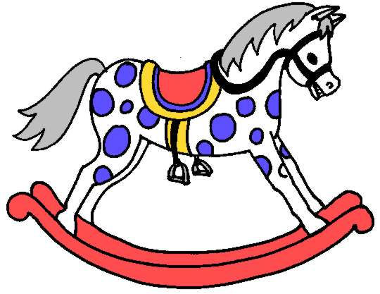 Rocking Horse Clip Art - Rocking Horse Clipart