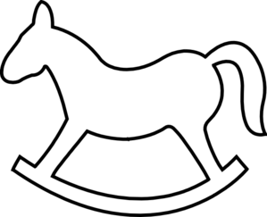 Rocking Horse Outline Clip Art-Rocking Horse Outline Clip Art-14