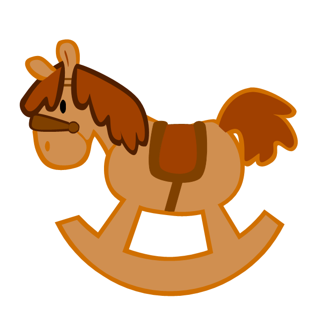 Rocking-horse, rocking-horse, - Rocking Horse Clipart