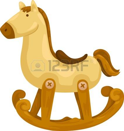 rocking horse: rocking horse vector illustration on a white background Illustration