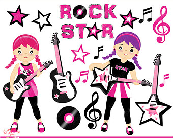 Rockstar Girls Clipart Set-Rockstar Girls Clipart Set-19