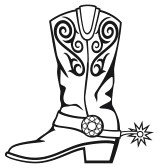 rodeo clipart black and white