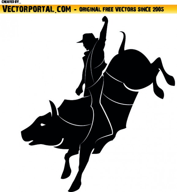 Rodeo clipart Free Vector