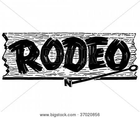 Rodeo Sign - Retro Clipart .-Rodeo Sign - Retro Clipart .-18