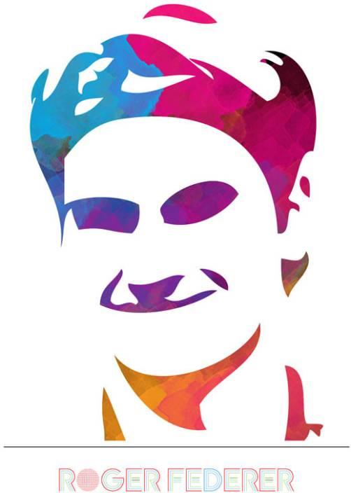Roger Federer - Art Paper Print