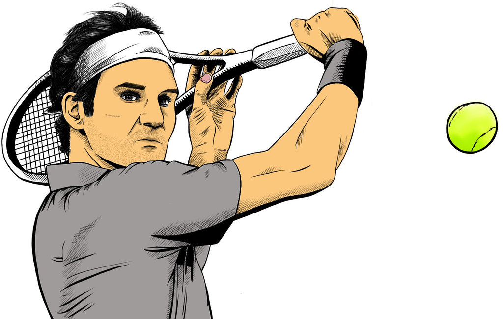 Roger Federer PAINTED by Martin2001 by Martin2001 ClipartLook.com