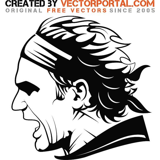 Roger Federer vector image by Vectorportal ClipartLook.com