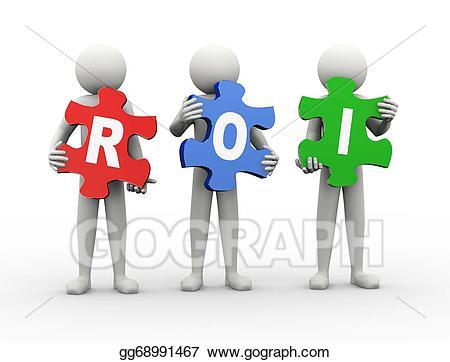 3d man puzzle piece - roi