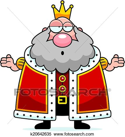 Clipart dessin animu0026233 roi confondu k20642635