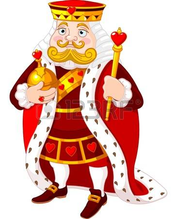 King royal person Clipart Vec