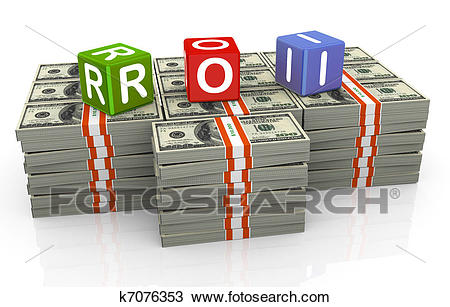 Drawing - 3d colorful textbox roi. Fotosearch - Search Clipart,  Illustration, Fine Art