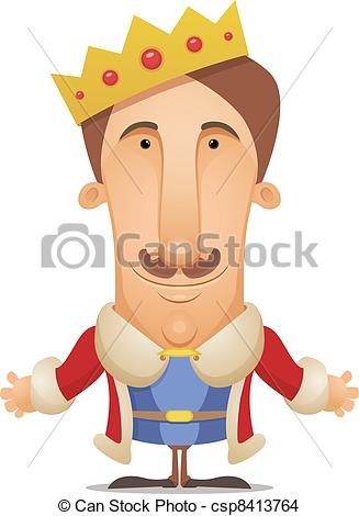 King royal person Clipart Vec - Roi Clipart