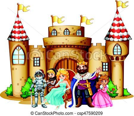 roi, château, reine - csp47590209