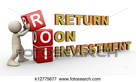 Stock Illustration - 3d man and roi cubes. Fotosearch - Search EPS Clipart,  Drawings