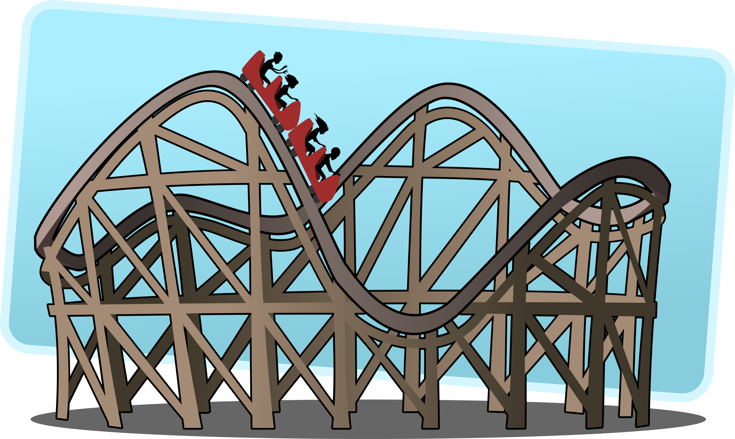 Roller Coaster. Advertising. BIG IMAGE (PNG)
