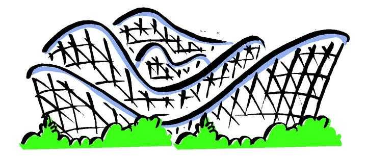 Roller coaster clipart free clipart images