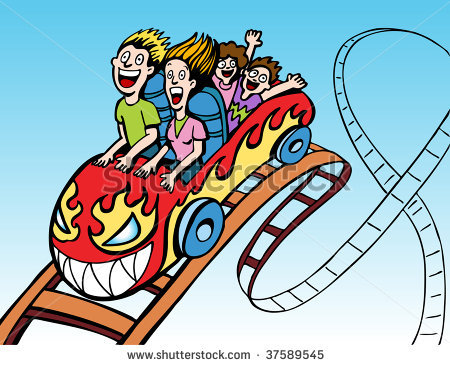 Roller Coaster Clipart Stock Vector Fami-Roller Coaster Clipart Stock Vector Family Riding Roller Coaster-5