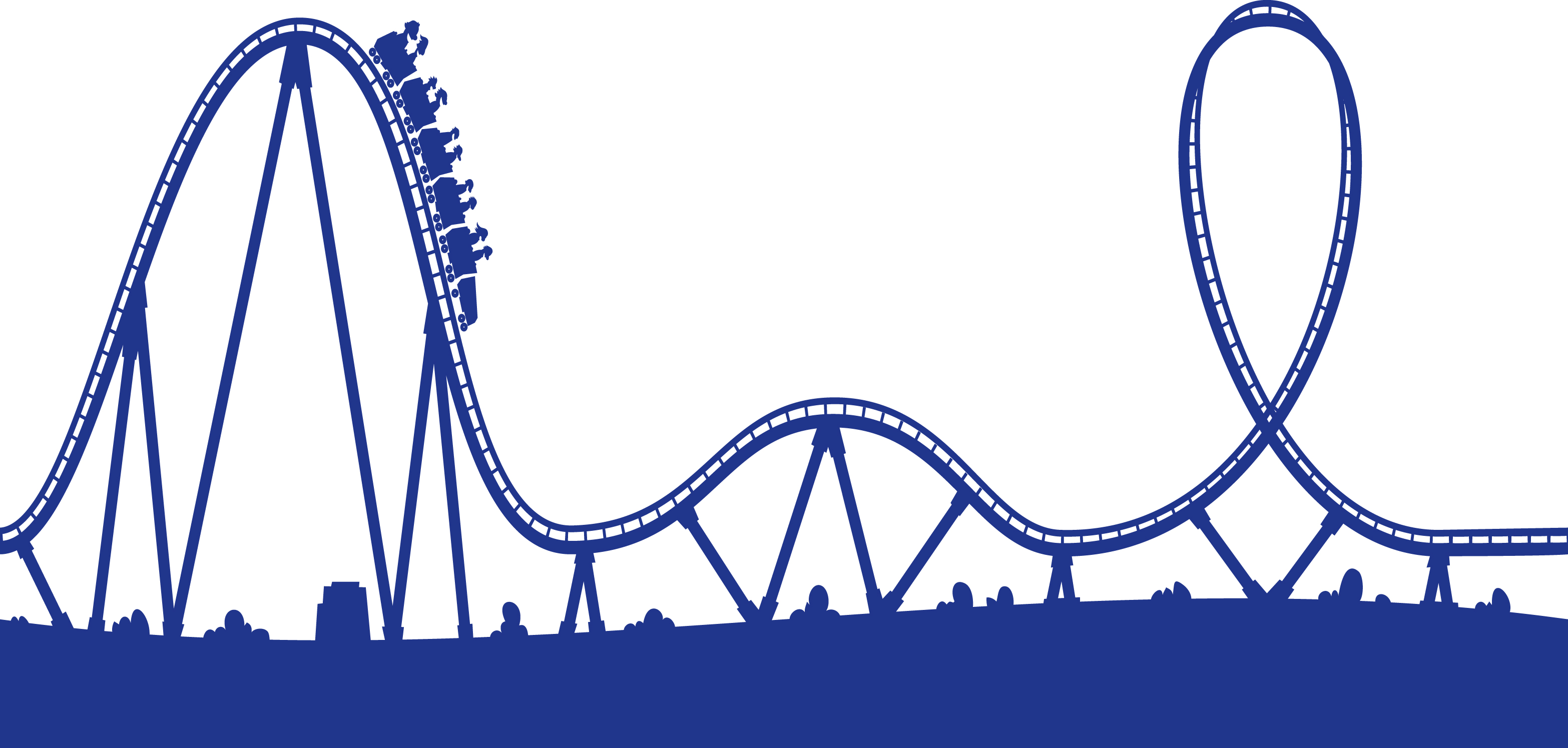 Roller coaster track clipart